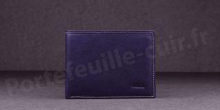 Fancil SA908 Portefeuille format italien en cuir - couleur Violet