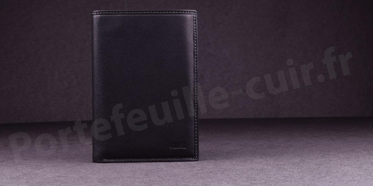 Fancil SA901 Portefeuille cuir 2 Volets Couleur Noir
