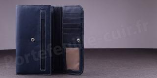 Portefeuille Compagnon Femme Fancil SA906 - Bleu