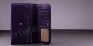 Portefeuille Compagnon Femme Fancil SA906 - Violet