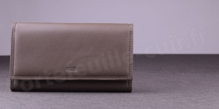 Grand Portefeuille Femme Fancil SA910 - Taupe
