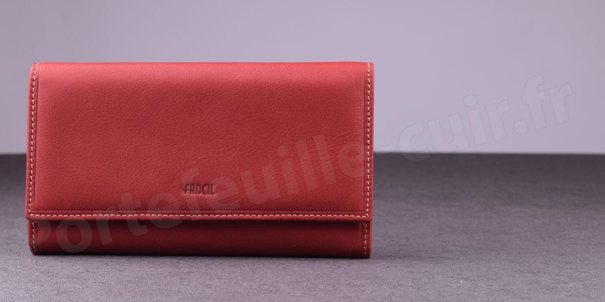 magasiner pour les plus récents Conception innovante vente de sortie Grand Portefeuille Femme Fancil SA910 - Rouge