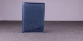 Fancil SA911 Portefeuille cuir 2 Volets Bleu Jean