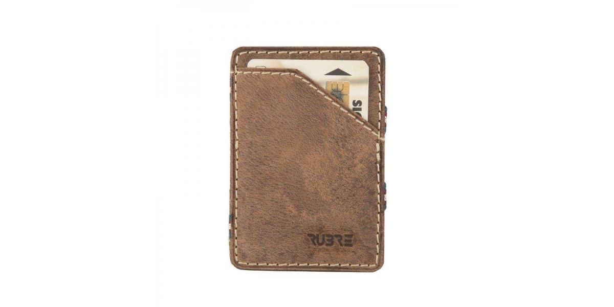 """Porte-carte """"magique"""" / porte-monnaie en cuir RUBRE®"""