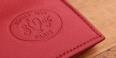 Sellerie Française Portefeuille format italien en cuir - couleur Rouge