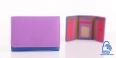 LUPEL Soft Porte-monnaie en cuir multicolore Protection RFID