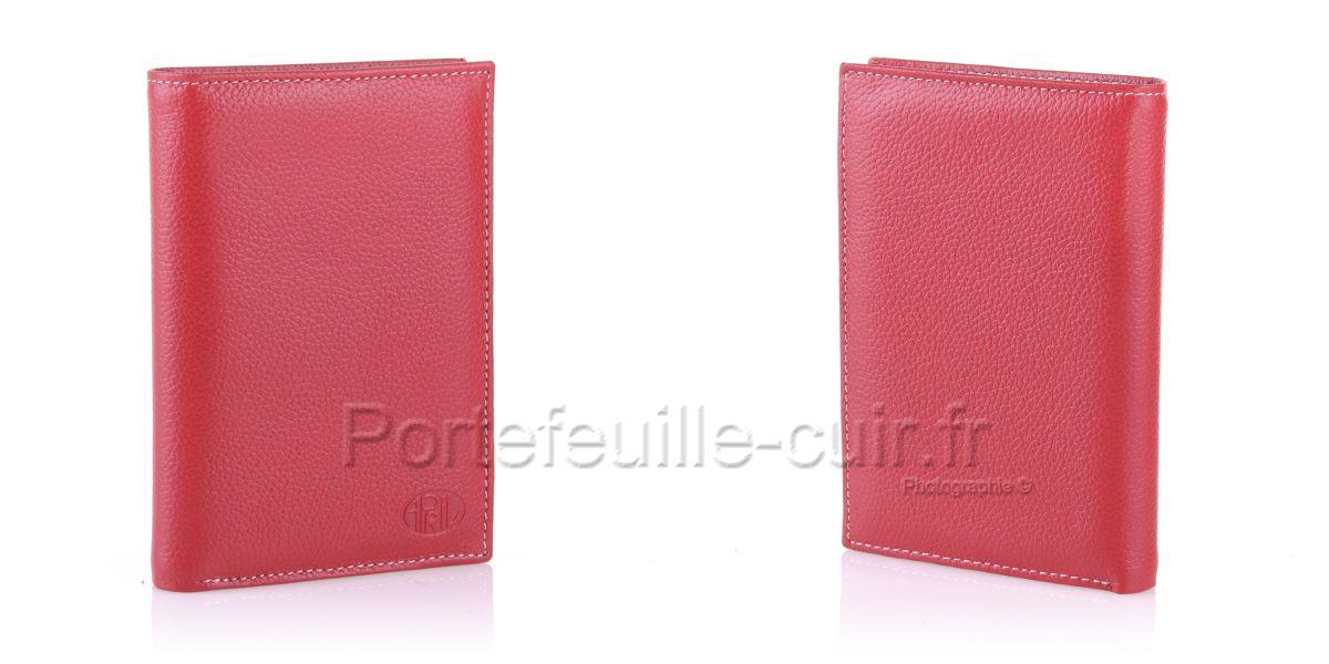 portefeuille femme cuir april 28614 rouge portefeuille. Black Bedroom Furniture Sets. Home Design Ideas