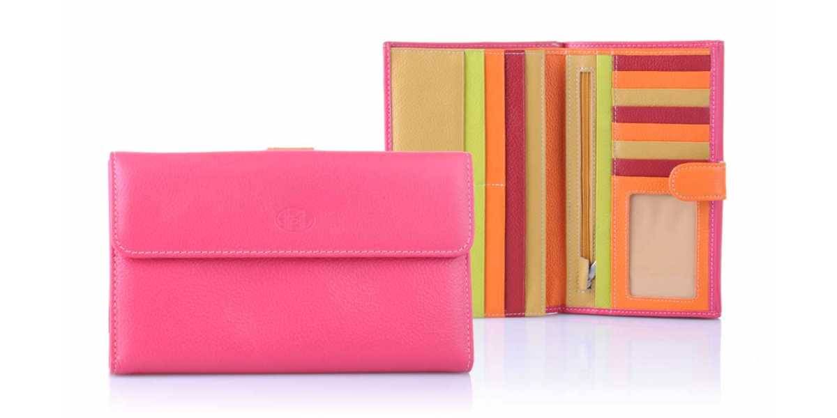 Compagnon femme cuir multicolors April 28606 Fucshia