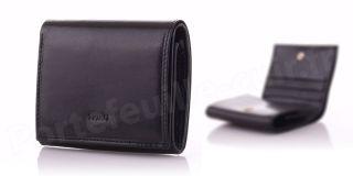 Porte-monnaie en cuir Spirit R6763 Noir