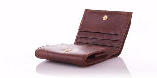 Porte-monnaie en cuir Spirit R6763 Marron