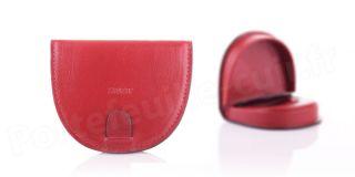 Porte-monnaie cuir R6741 Rouge