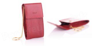 Etui porte-clé en cuir R6303 Rouge
