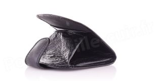 Porte-monnaie cuir R6005 Noir