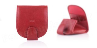 Porte-monnaie cuir R6005 Rouge