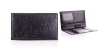 Porte-chéquier cuir Spirit R6521 Noir