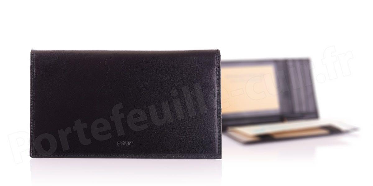 Porte-chéquier cuir Spirit R6525 Noir