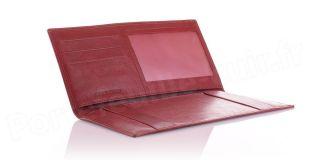 Porte-chéquier cuir format professionnel Spirit R6546 Rouge