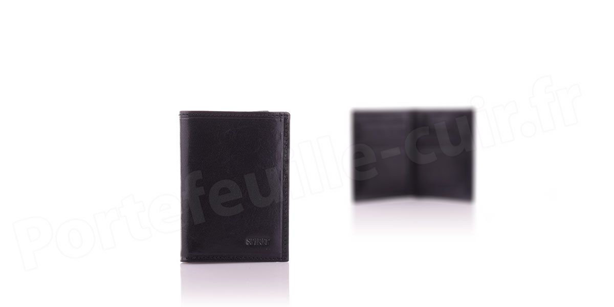 Spirit R6905 Porte carte cuir Noir