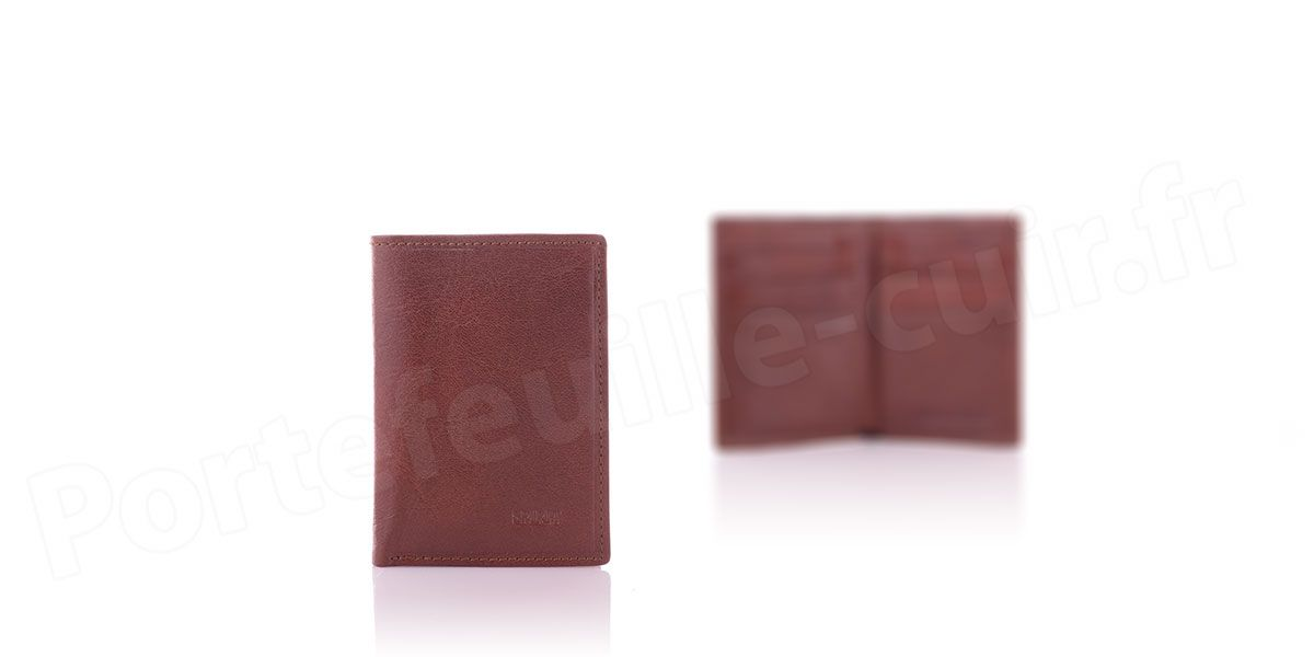 Spirit R6905 Porte carte cuir Marron