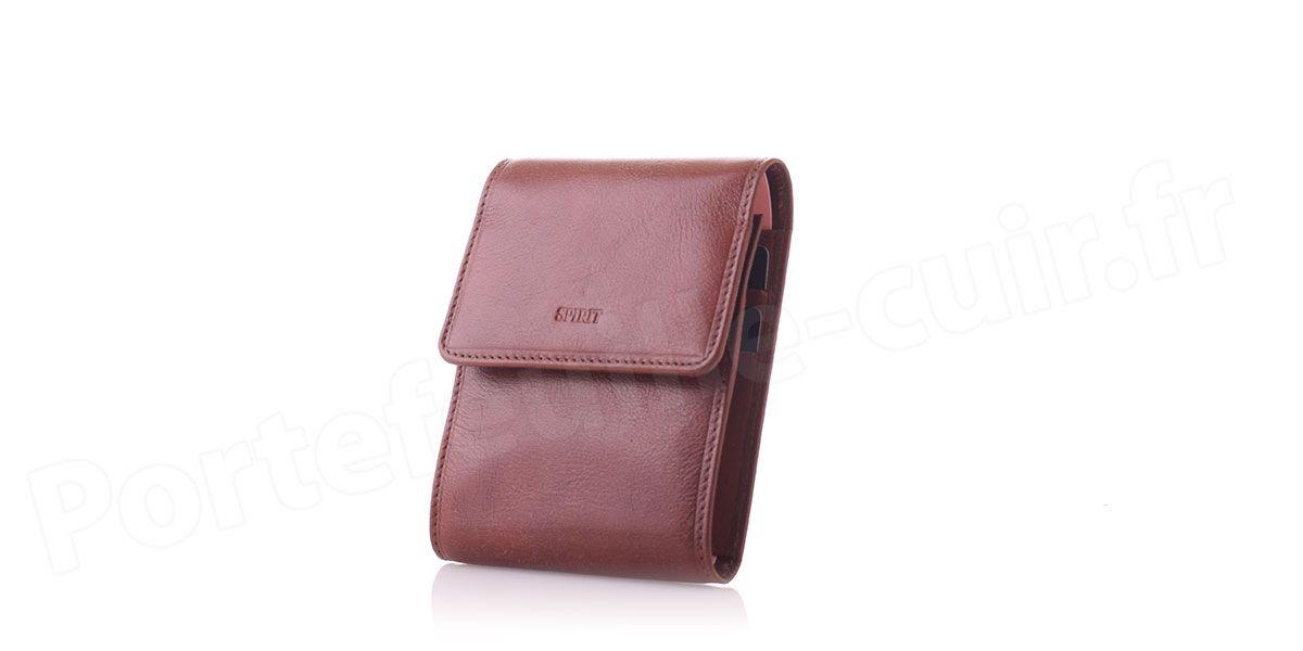 spirit r6509 porte ch quier pliable en cuir marron. Black Bedroom Furniture Sets. Home Design Ideas